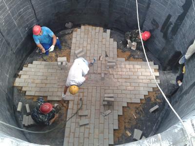氢钾反应槽砌瓷砖